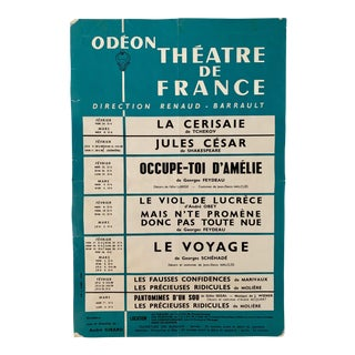 1960's French Odeon Theatre De France Poster For Sale