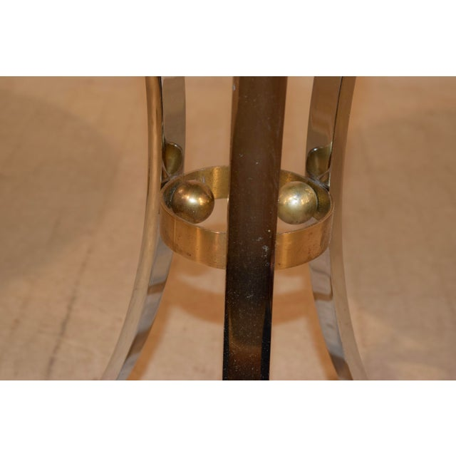 Mid-Century Mahogany and Chrome Side Tables - a Pair For Sale - Image 9 of 12
