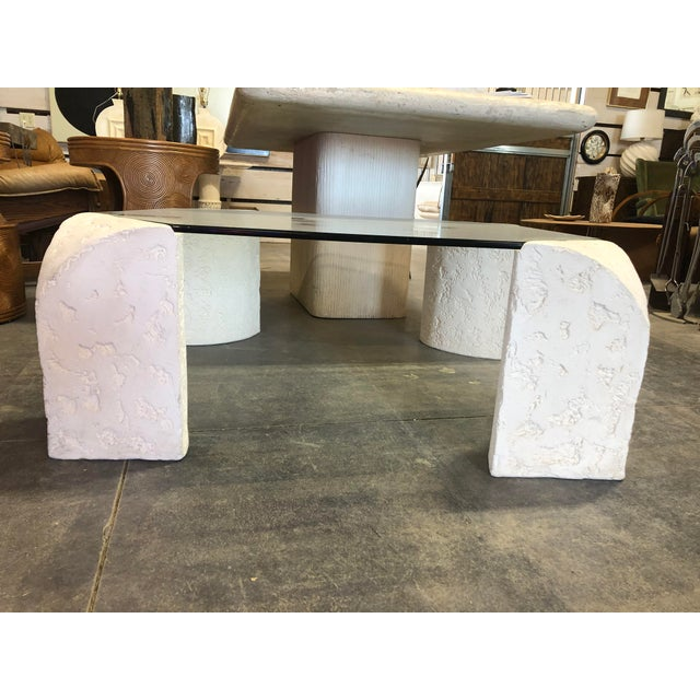 1980's Plaster Coffee Table For Sale - Image 6 of 6