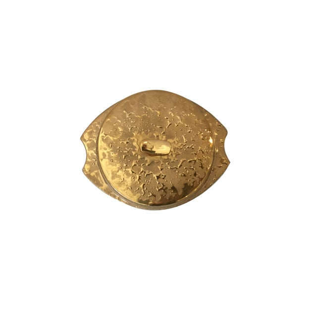 Americana Vintage Weeping 22k Gold Covered Dish For Sale - Image 3 of 3