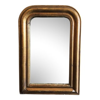 Vintage Mid-Century French Louis Phillip Style Gilded Mirror For Sale
