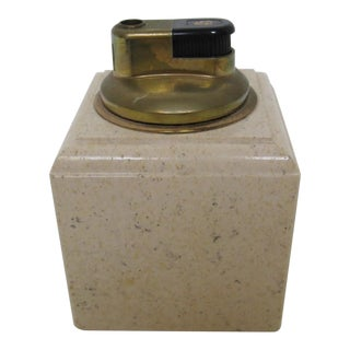 Vintage Travertine Table Lighter