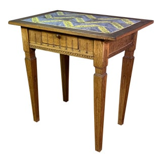 Early 20th Century Louis XVI Style Kellinghusen Tile Top Table For Sale