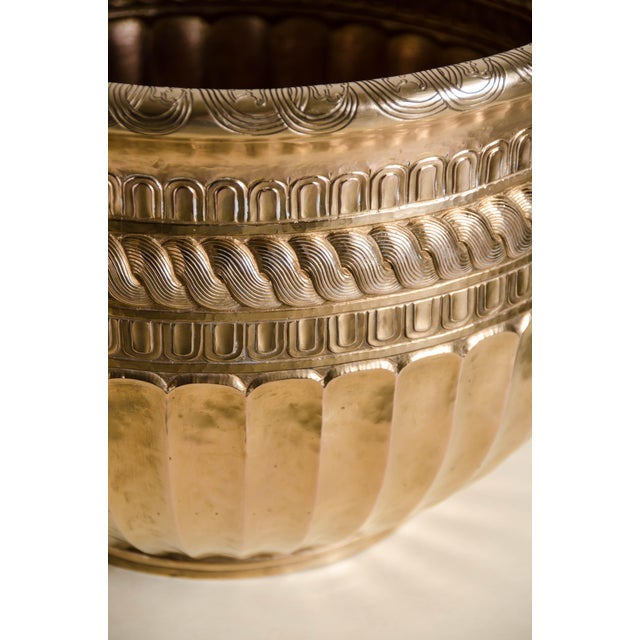 Contemporary Tang Design Pot - 24k Gold Plate by Robert Kuo, Hand Repousse, Limited Edition For Sale - Image 3 of 6
