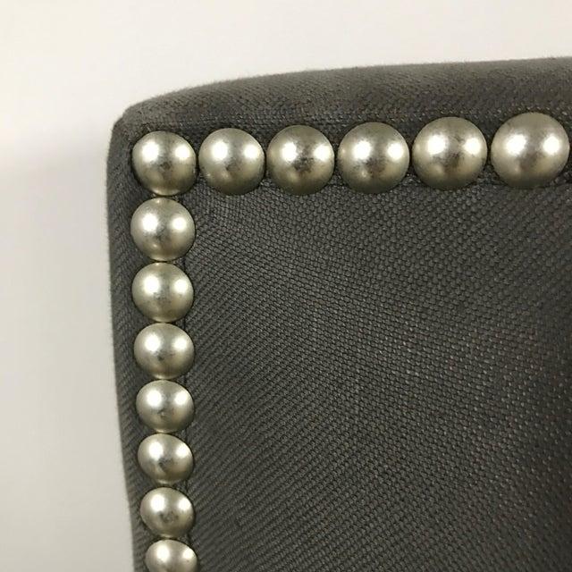 Crate & Barrel Upholstered King Bed - Image 9 of 11