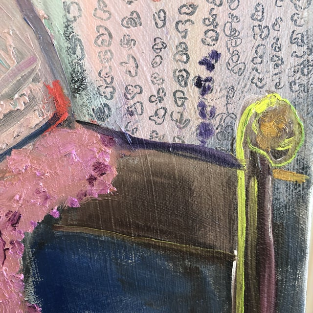 Modern Figure on Bench Painting by Jj Justice For Sale In Santa Fe - Image 6 of 12