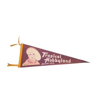 Tropical Hobbyland Miami Florida Felt Flag