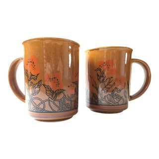 Vintage Romanian Mugs - A Pair
