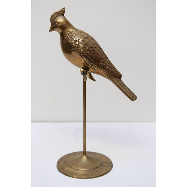 Brass Cardinal on Perch Figurine - Image 4 of 8