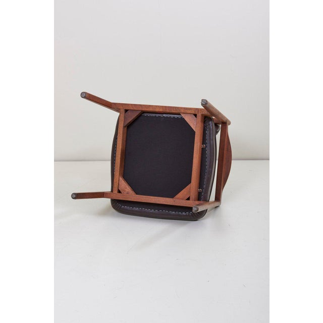 Jens Risom Armchair in Walnut and Leather by Jens Risom Inc. For Sale - Image 10 of 11