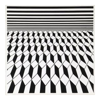 1970s Roy Ahlgren, Environment (Black), Op Art Screenprint For Sale
