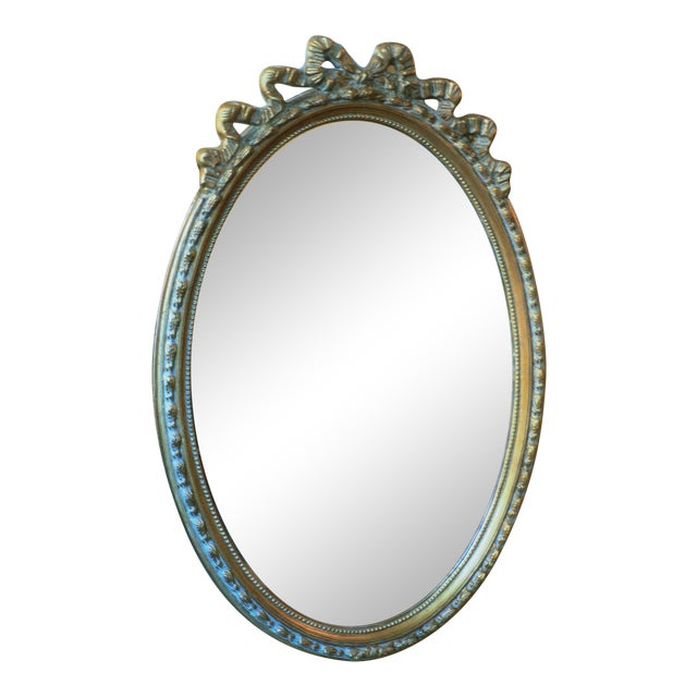 Gold Glided Oval Mirror - Image 1 of 3