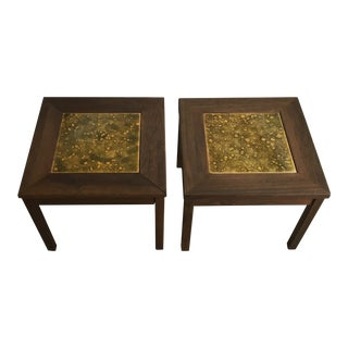 1960s Mid-Century Modern Brown Saltman Side Tables - a Pair For Sale