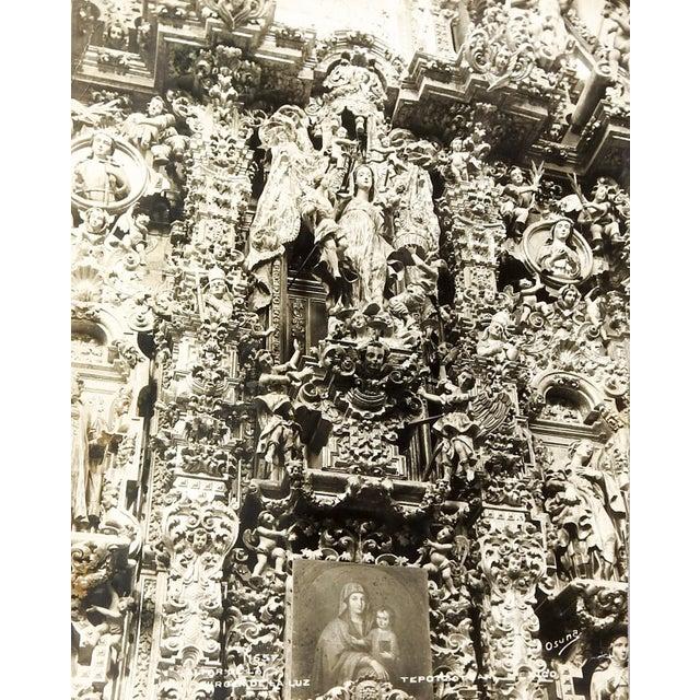 Circa 1915 photograph of the Altar of the Virgin de la Luz at the Church of San Francisco Javier in Tepotzotlan, Mexico by...