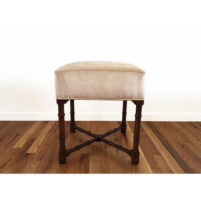 Hickory Chair Co. Upholstered Bench - Image 2 of 6