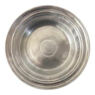 Cosi Tabellini Vintage Italian Pewter Bowl For Sale
