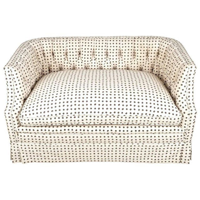Vintage Tufted Back Loveseat - Image 9 of 9