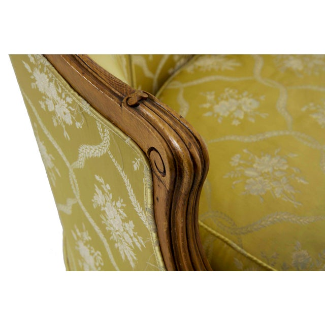Yellow 19th Century French Antique Canapé Sofa Settee in Louis XV Style For Sale - Image 8 of 13