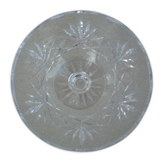 Cut Clear Crystal Compote For Sale
