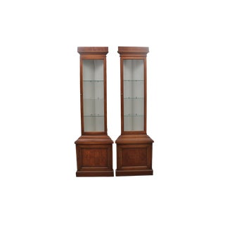 1960s Drexel Lighted Corner Cabinets - a Pair For Sale