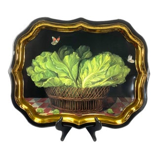 Late 20th Century Ian Logan London Toleware Tray For Sale