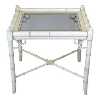 Mid-Century Cream Side Table