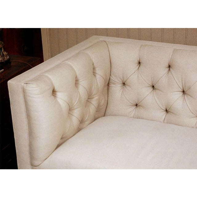 """Traditional """"Tatum"""" by Lee Stanton William IV Style Tufted Sofa For Sale - Image 3 of 6"""