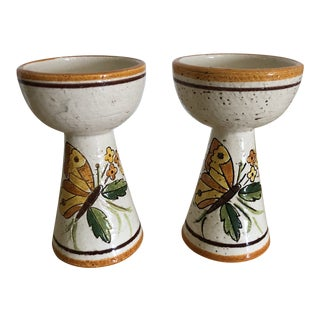 Vintage Bitossi for Rosenthal Netter Candlestick Holders - A Pair