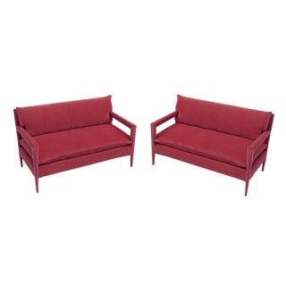 1970s Vintage Milo Baughman Style Parsons Sofa - a Pair For Sale