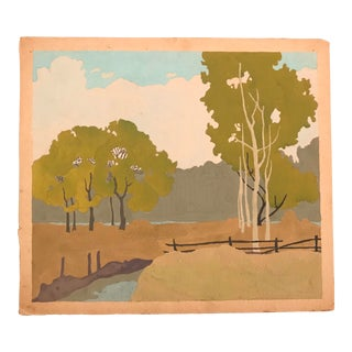 Arts and Crafts Landscape Painting For Sale