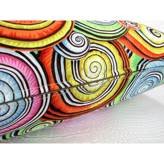 Abstract Print Lumbar Pillows - A Pair For Sale - Image 4 of 5