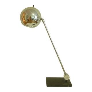 Mid 20th Century Robert Sonneman Chrome Ball Desk Lamp For Sale