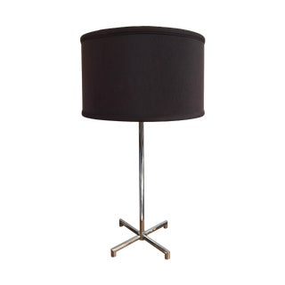 Nessen Chrome X-Base Table Lamp
