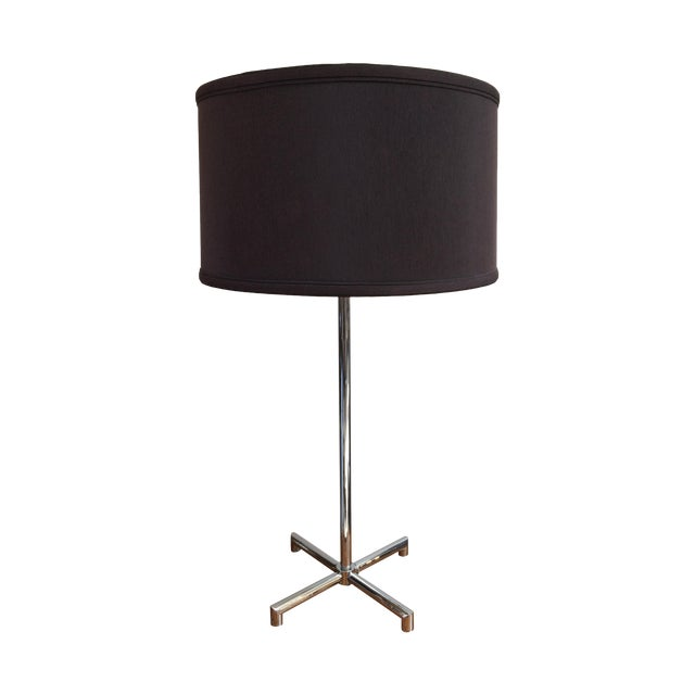 Nessen Chrome X-Base Table Lamp For Sale