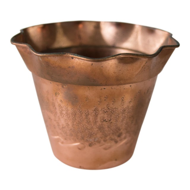 French Copper Planter For Sale