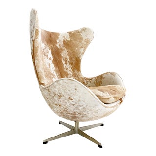 Egg Chair in Brazilian Cowhide For Sale