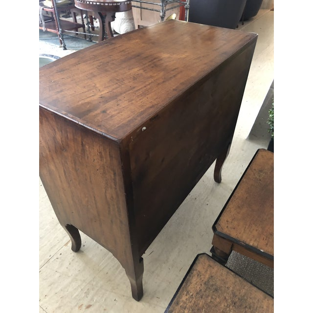 Burled Walnut Chest of Drawers With Beautiful Inlay For Sale - Image 9 of 10