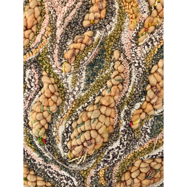 "Boho Chic ""Canto Al Fuego"" Textile Art For Sale - Image 3 of 9"
