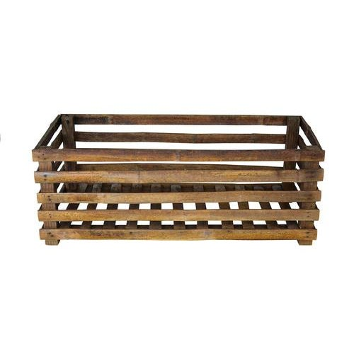 Vintage Handcrafted Exotic Bamboo Crate - Image 2 of 4