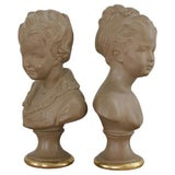 Image of Boy & Girl Borghese Busts - A Pair For Sale