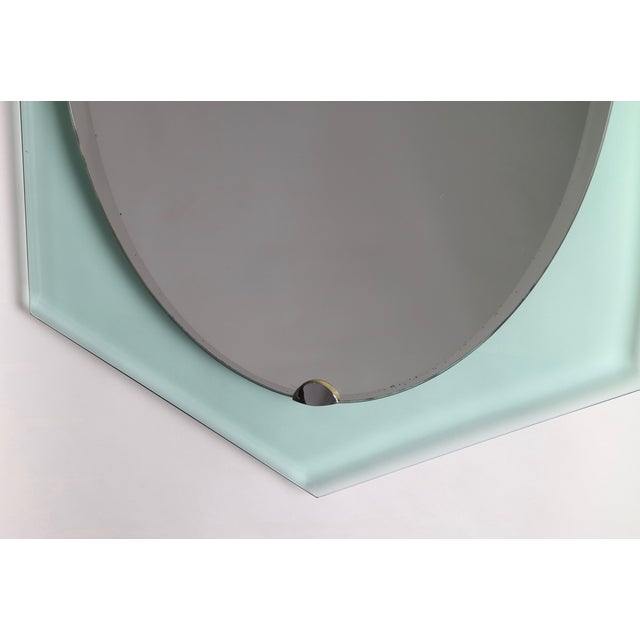 Fontana Arte Italian Mid Century Mirror For Sale In New York - Image 6 of 9