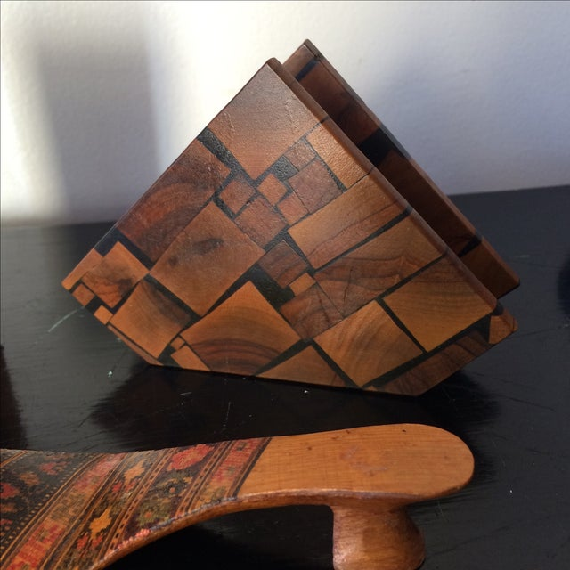 Small Marquetry Wooden Collection with inlay For Sale In Atlanta - Image 6 of 8