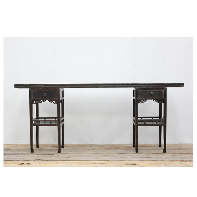 2010s Sarreid Ltd Antique Ming Style Console Table For Sale - Image 5 of 5
