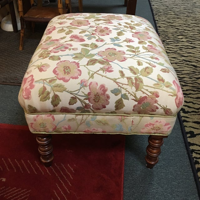 Custom Upholstered Ottoman - Image 4 of 6