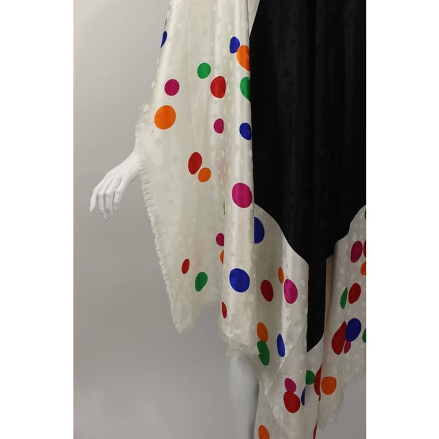 Vintage Saint Laurent Silk Color Dot Print Shawl / Scarf For Sale In Miami - Image 6 of 10