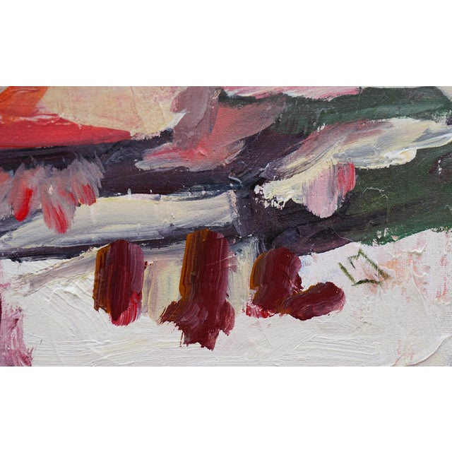 """2010s Laurie MacMillan """"A Change of Scenery"""" Abstract Painting For Sale - Image 5 of 6"""