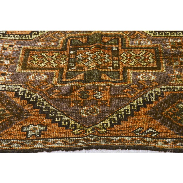 1930s Traditional Turkish Red Wool Oushak Rug - 4'10''x10'4'' For Sale - Image 4 of 7