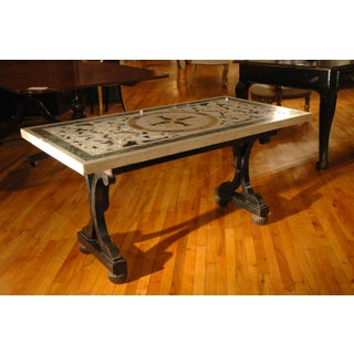 Italian Painted Coffee Table Base With Marble Top Preview