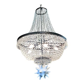 Vintage Empire Crystal Chandelier For Sale