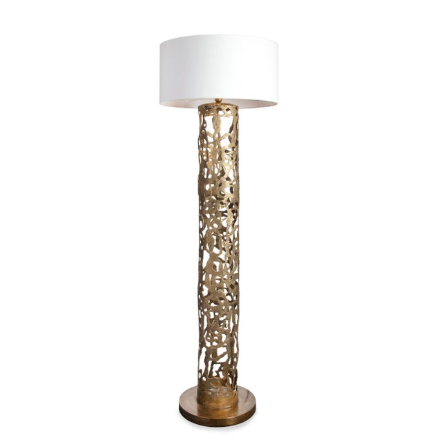 Contemporary Romi Gold Floor Lamp Christine Rouviere For Sale - Image 3 of 3